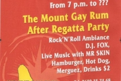 Mount gay party poster